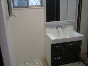 八尾市の注文住宅の洗面所