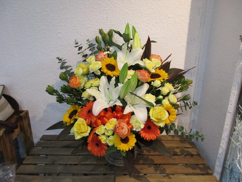 ルポソン開店祝いの花