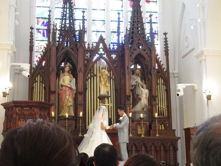 長谷川さんの娘さんの結婚式