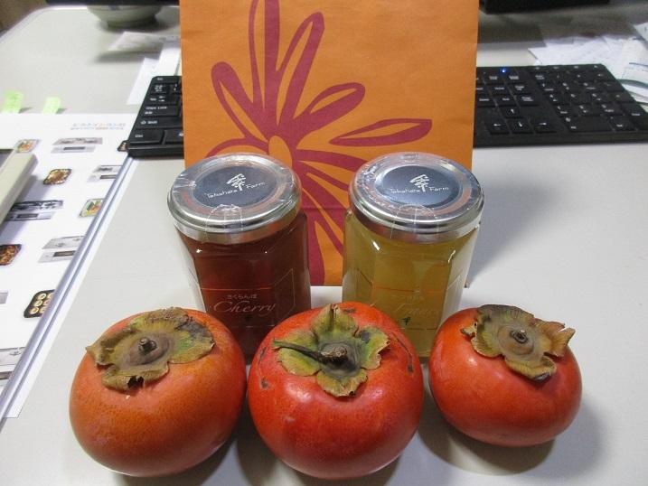 井上さんに貰った柿とジャム