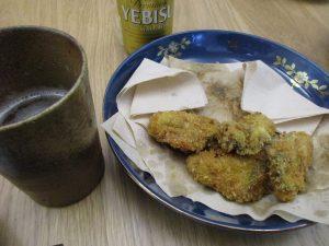 牡蠣とエビス
