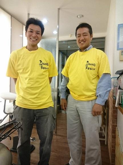 募金ライブのスタッフTシャツ